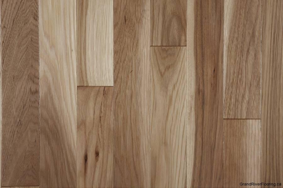 Hickory Natural Character Narrow Hardwood Flooring