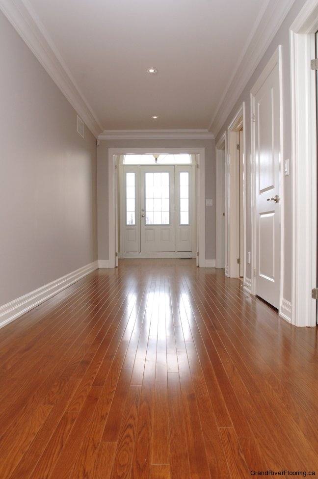 Hardwood In The Hallway Grand River Flooring Inc
